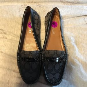 Coach Olive Loafers Signature Black/Grey Size 8.5